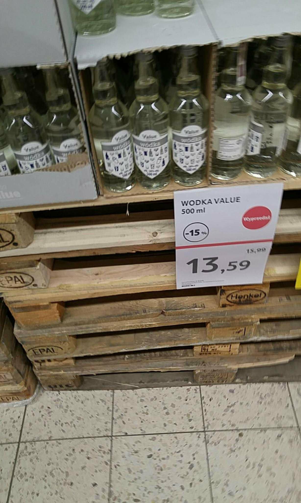 Wódka Tesco Value 0,5 l