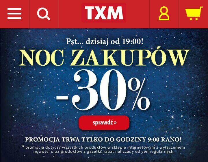 -30% Noc Zakupów na txm.pl @txm