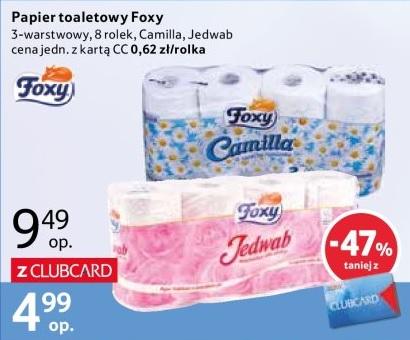 Papier toaletowy Foxy z kartą Clubcard @Tesco