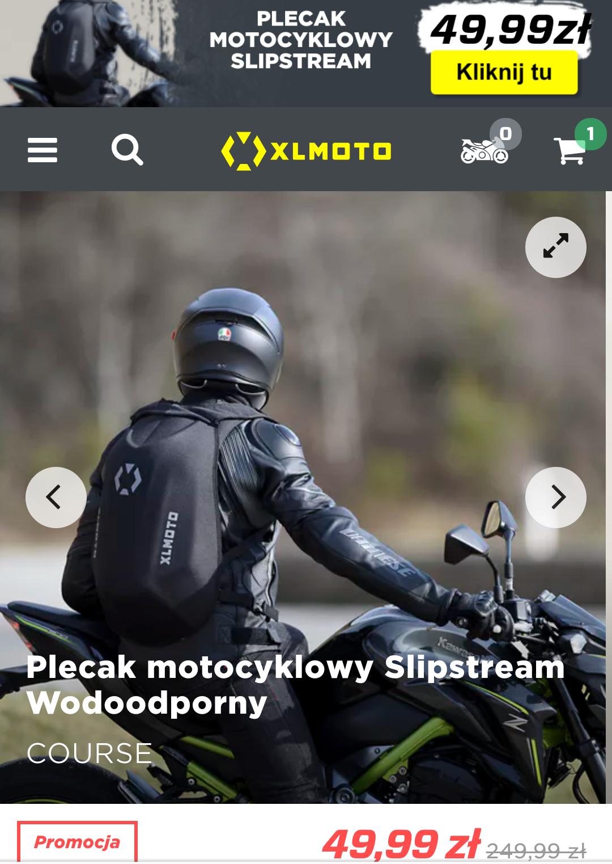 Plecak motocyklowy XL Moto Slipstream wodoodporny