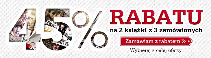 Rabat 45% na 2 książki z 3 zamówionych @ Znak