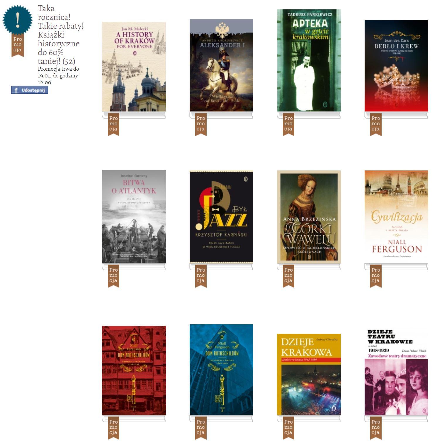 Okrągłe rabaty na okrągłą rocznicę! Książki historyczne do 60% taniej!