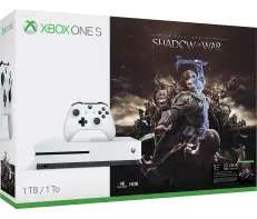 Xbox One S 1TB + Shadow of War + Halo 5 + Gears Of War Ultimate