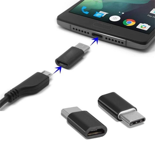 Przejściówka z MicroUSB na USB-C