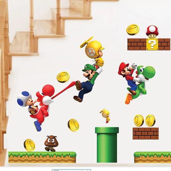 [Dresslily] Dekoraycjna naklejka ścienna Super Mario za ok, 3,60 zł