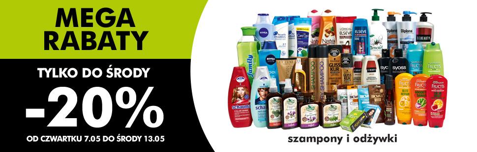 Rabat 20% na szampony i odżywki @ Biedronka