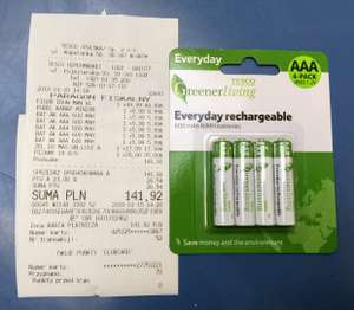 Akumulatorek AAA 600mAh w Tesco