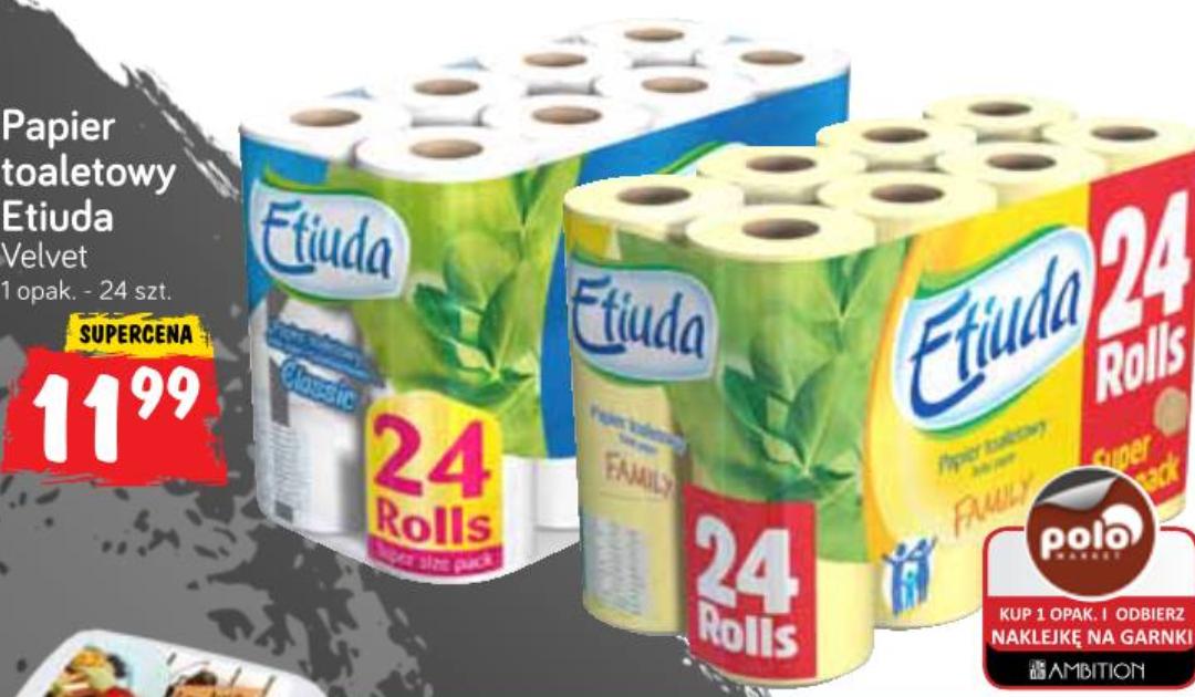 Papier toaletowy Etiuda 24 rolki Polo Market