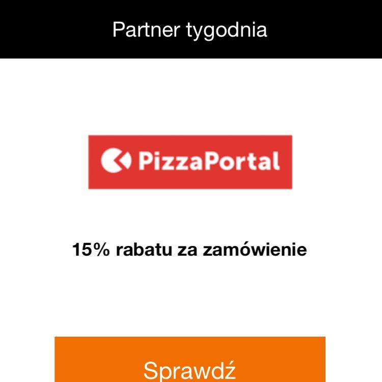 -15% do pizzaportal.pl za doładowanie w Orange