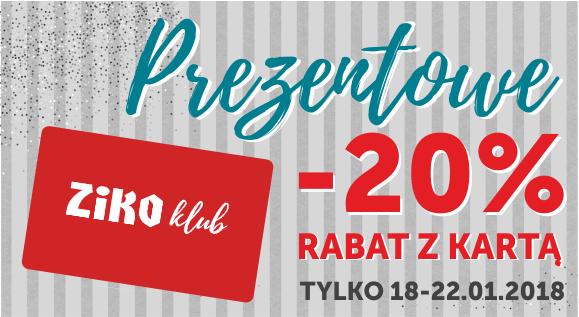 20% rabatu na wybrane kosmetyki i zestawy prezentowe @ Apteka Ziko