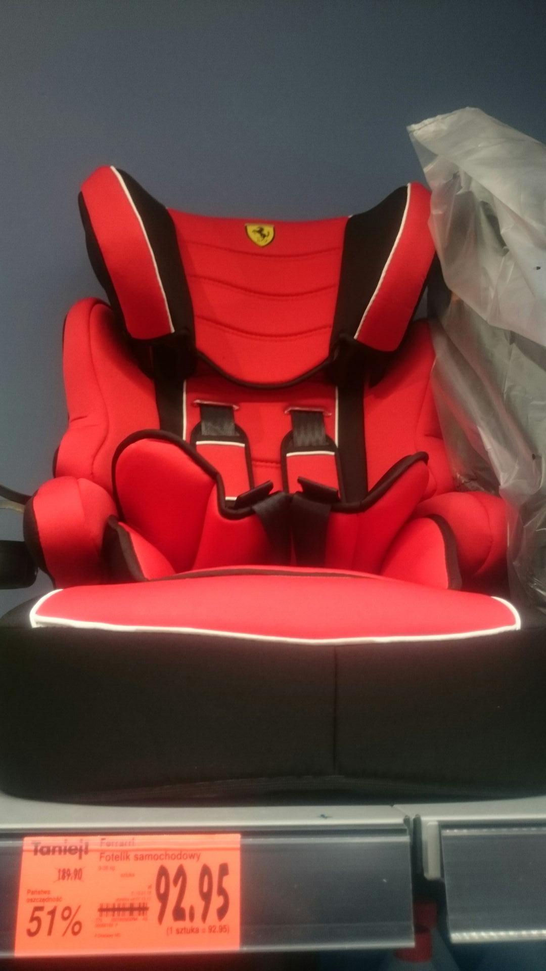 Fotelik samochodowy Ferrari Kaufland