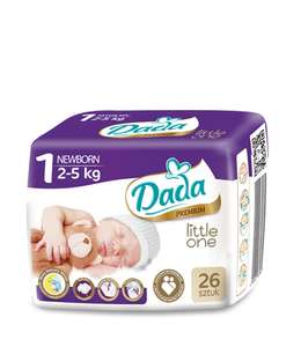 Pieluszki Dada Premium NewBorn 26 sztuk za 8,49 zł w Biedronce