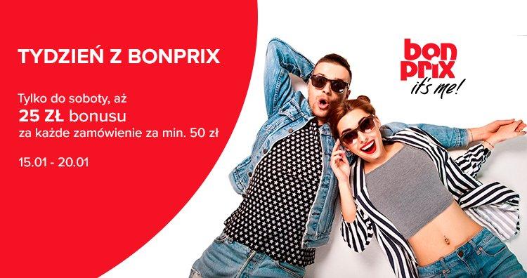 Tydzień z Bonprix na Bonusway.pl - zwrot 25 zł za zakupy za min. 50 zł
