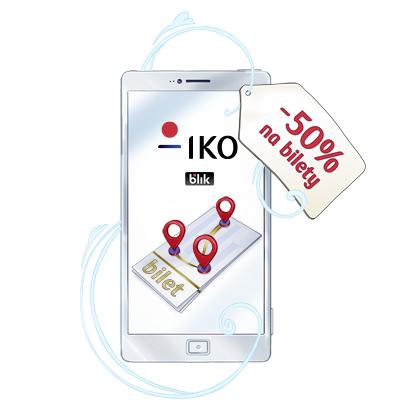 50% taniej za bilety komunikacji miejskiej JakDojadę - IKO