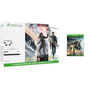Xbox One S 500 GB + Forza Horizon 3 + Quantum Break + Rise of the Tomb Raider + Titanfall 2 + 2x 3 mies. Live Gold