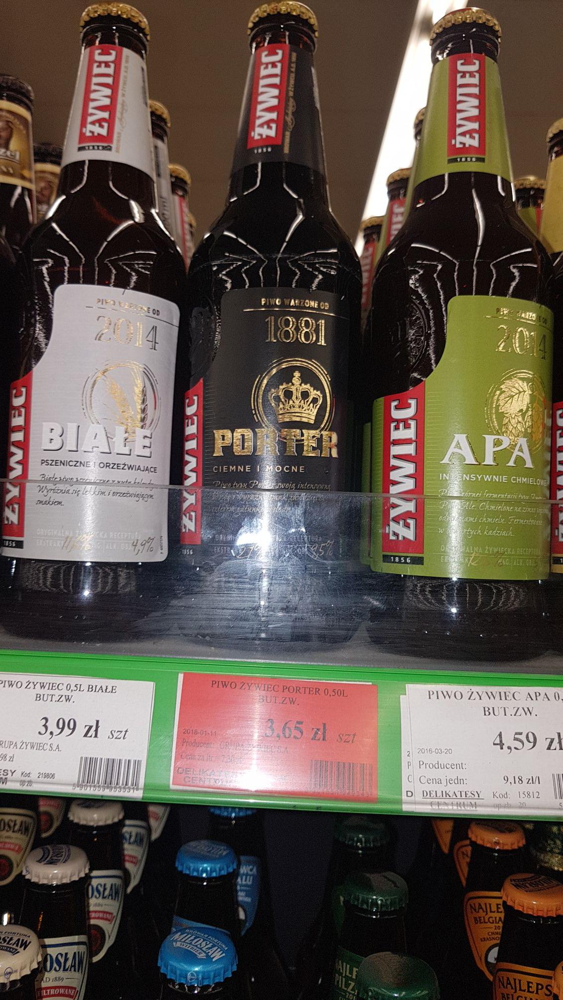 Piwo Żywiec Porter dla lubiących dobre mocne piwo w delikatesy centrum