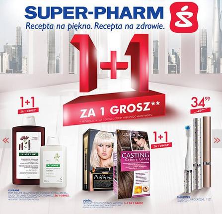 1+1 za grosz na wybrane produkty @ Super-Pharm