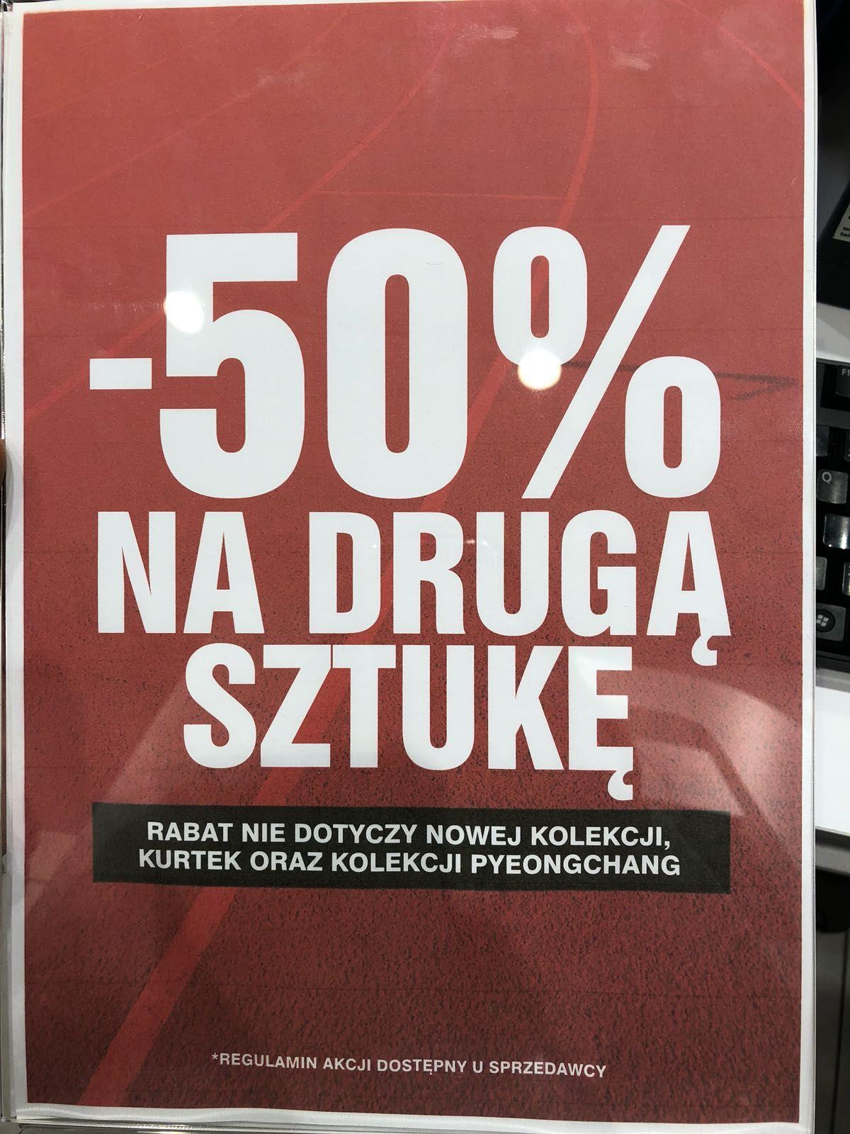 -50% na drugi tańszy produkt w sklepach 4F