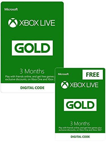 Xbox Live Gold 6 miesięcy (dwa kody 3 na miesiące) 14,99GBP Amazon.co.uk