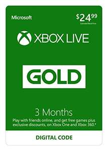 Xbox Live Gold 2x3msc @ Amazon (USA)