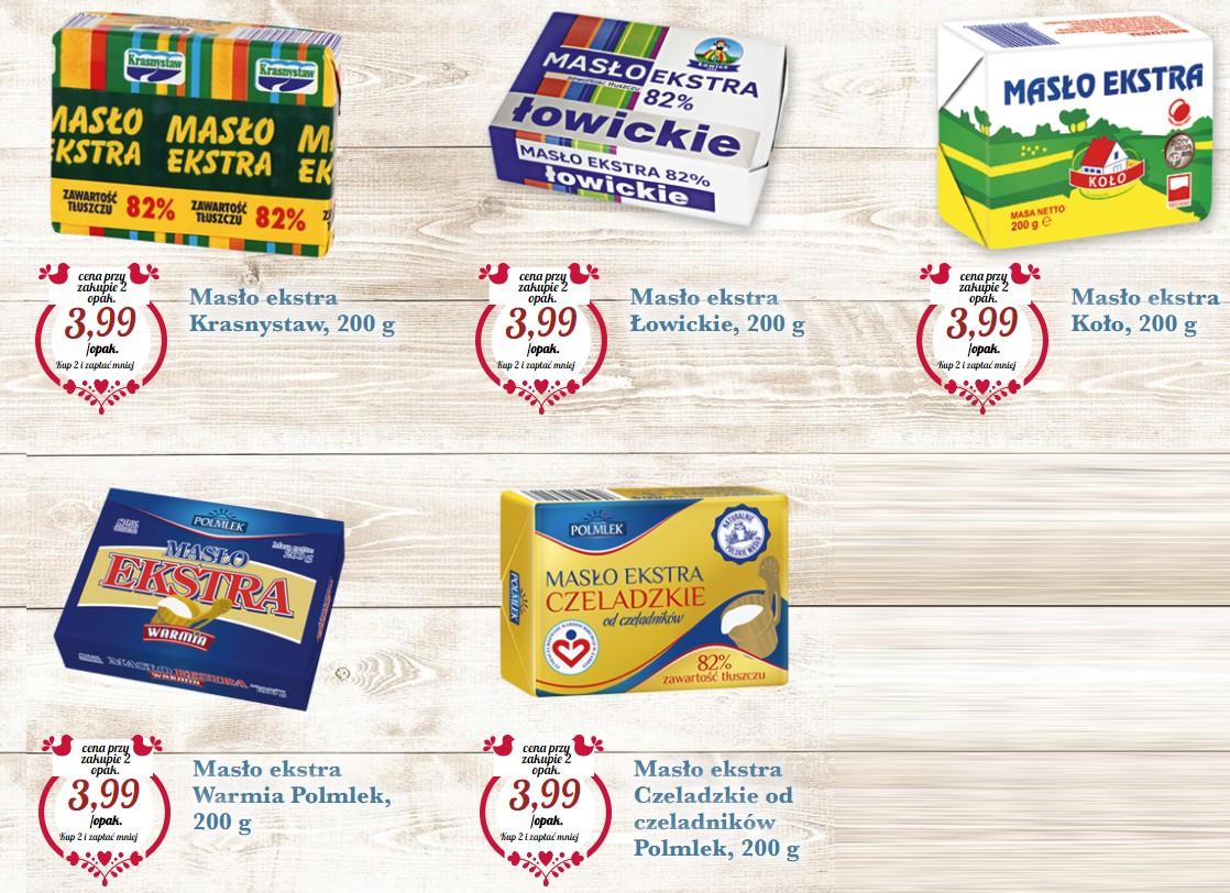 Masło po 3,99 zł za opakowanie przy zakupie 2 sztuk @Biedronka