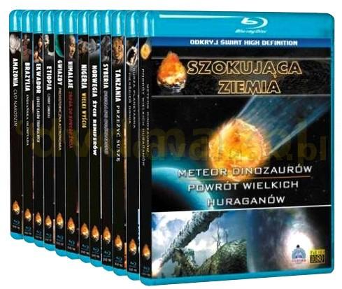 Pakiet 12 Filmów Blu-Ray Szokująca Ziemia