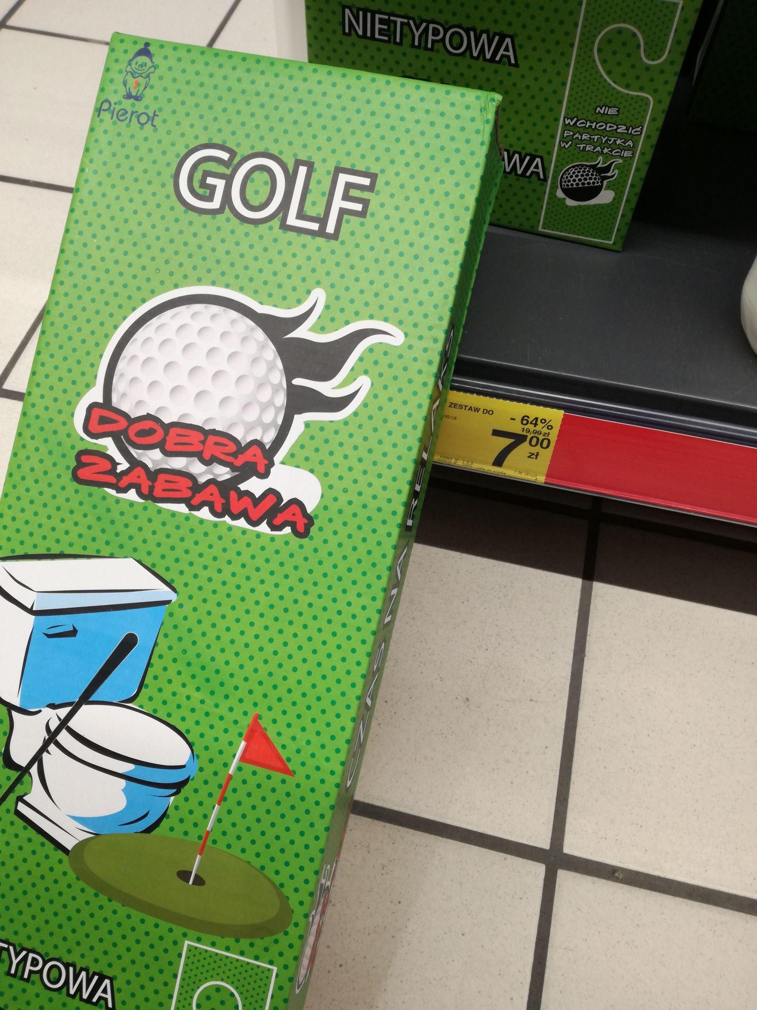 Zestaw do gry w golfa w WC za 7zl (Carrefour Galeria Mokotów)