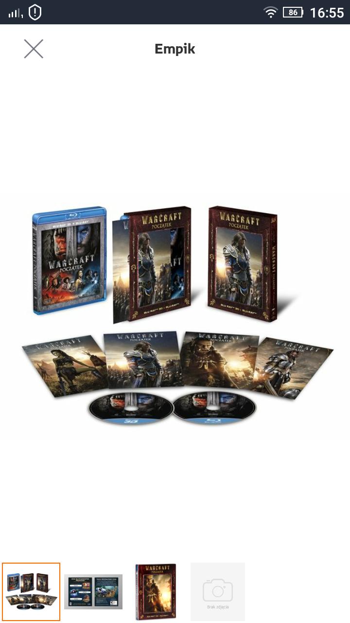 Warcraft: Początek 3D+2D Blu-ray + Karty