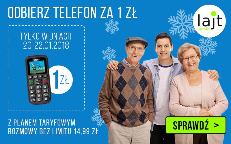 Lajt Mobile MAXCOM MM428BB za 1 PLN w dniach 20-22.01 w abonamencie za 14,99