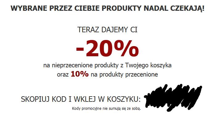 -20% na nieprzecenione produkty z Twojego koszyka oraz 10% na produkty przecenione (Answear,com)