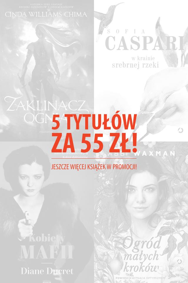 Pięć książek za 55zł @ Znak