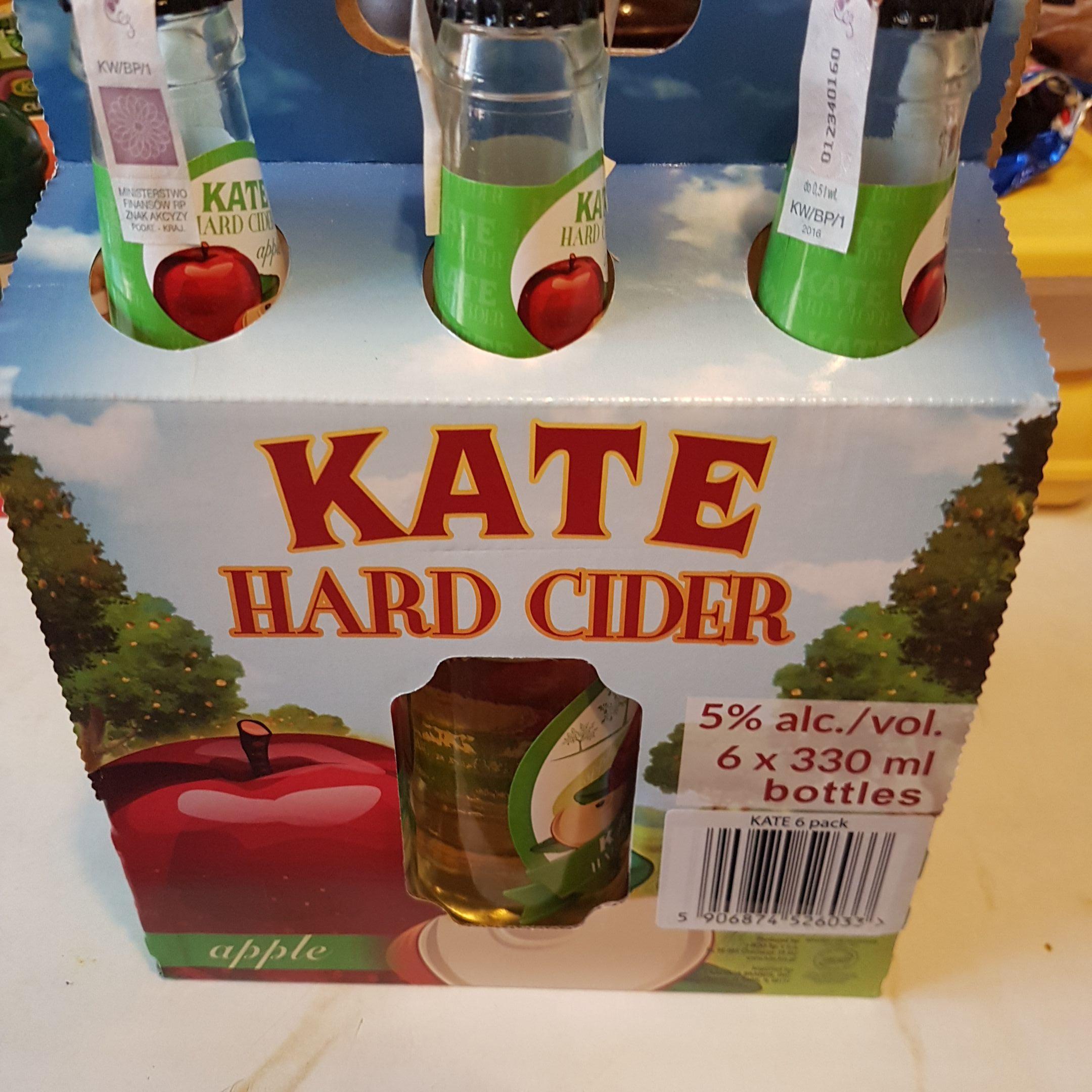 Cydr KATE HARD CIDER ~2,08zł/szt 6 x 0.33l -50%