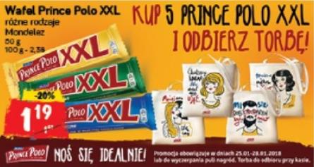 Polomarket, Kup 5 Prince Polo XXL i odbierz torbę!