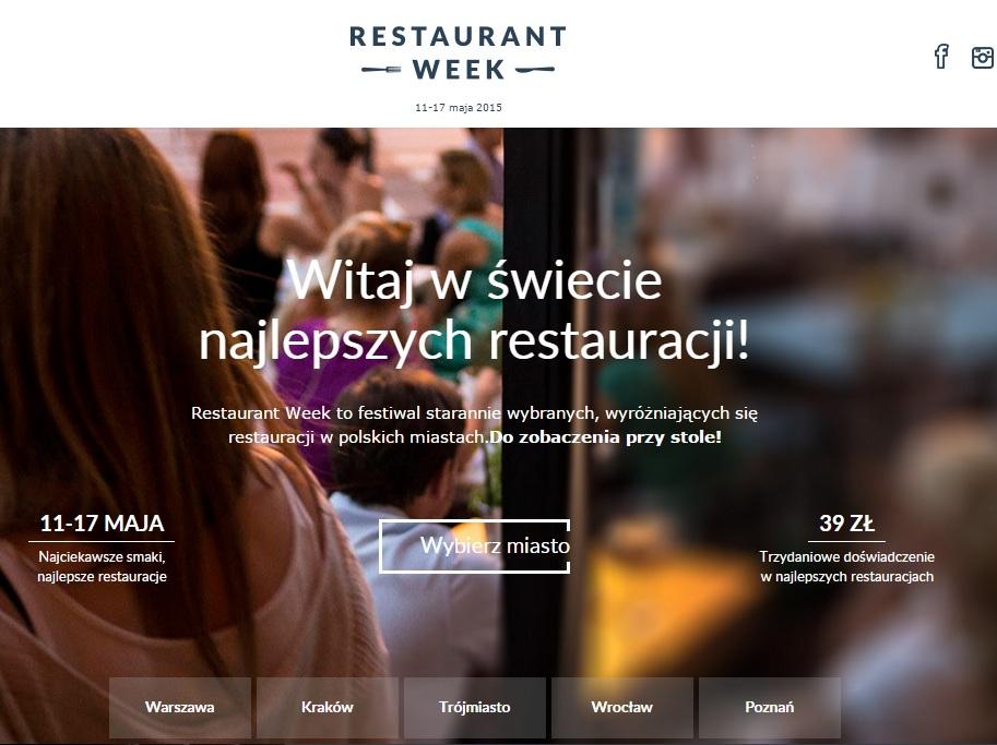 Restaurant Week - 3 dania w ekskluzywnych restauracjach za 39zł (Poznań, Wrocław, Warszawa, Kraków, Trójmiasto)