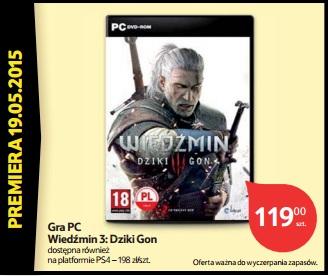 Wiedźmin 3 Dziki Gon na PC (Xbox One/Playstation 4 za 198zł) @ Tesco