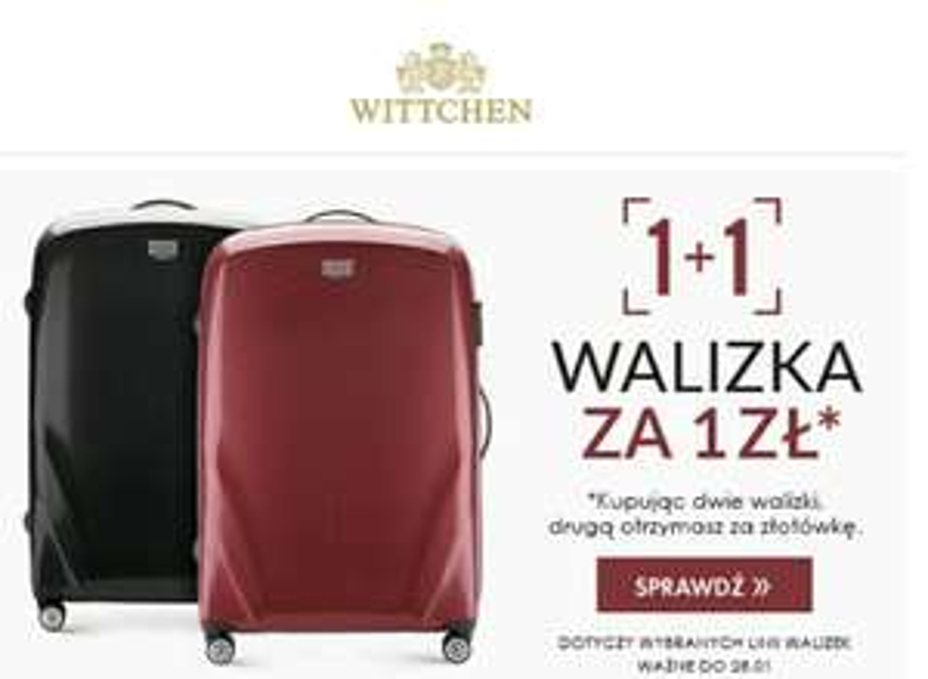 Witchen - Przy zakupie dwóch walizek, druga za 1 zł