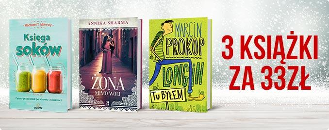3 książki za 33 zł @ TaniaKsiążka