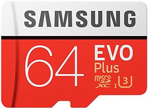 3 x  Samsung EVO Plus 64 GB MicroSD U3 z adapterem (73 zł/szt.) [Amazon.uk]