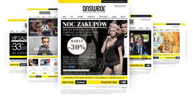 Zapisz się do newslettera i odbierz 50 zł na pierwsze zakupy @ Answear.com