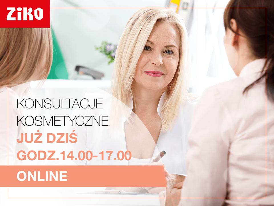 Konsultacje kosmetyczne online [14:00-17:00] @ Apteka Ziko