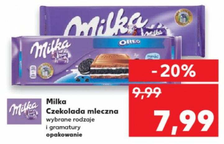 Duża czekolada Milka - Kaufland