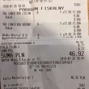 Wódka Absolut 0,5l w Biedronce 24,99 zl