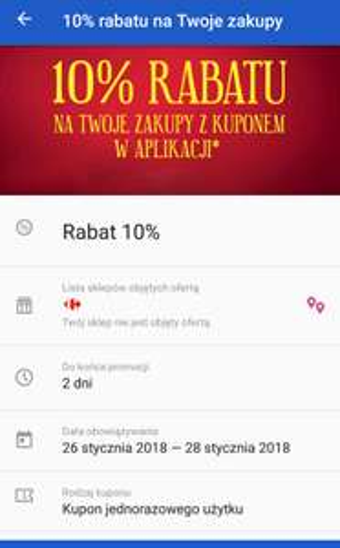 Carrefour 10% z aplikacją (80-300zł oraz wykluczenia)