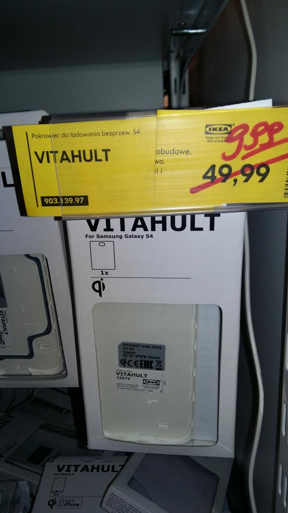 IKEA pokrowiec do ładowania bezprzewodowego dla Samsunga Galaxy S4 za 9,99 zł