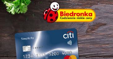 50 zł do Biedronki za zwiększenie limitu karty kredytowej w Citibank