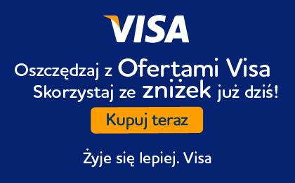 Płać kartą VISA odbieraj zniżki i kupony (Orlen, Allegro, C&A, Telepizza i inne) @ VISA