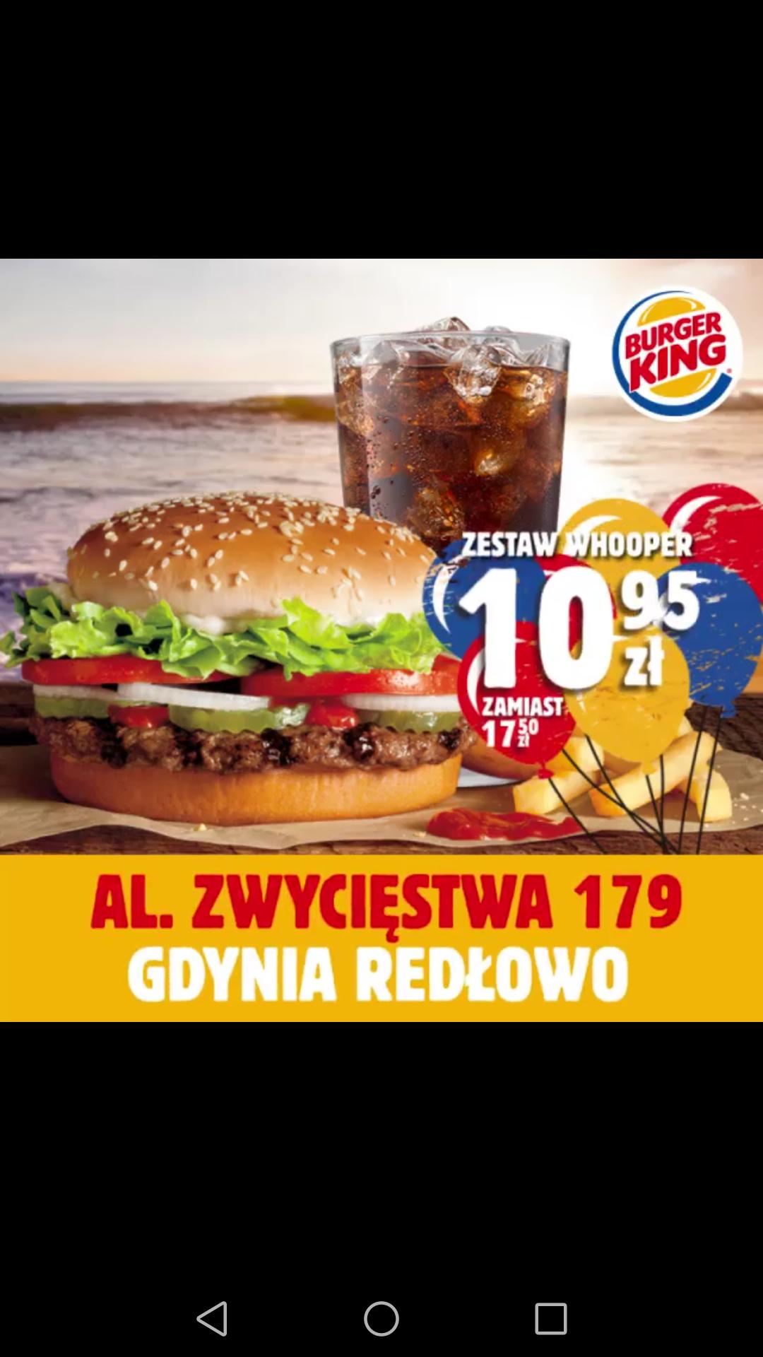 Zestaw Whooper za 10.95 zł  - Gdynia