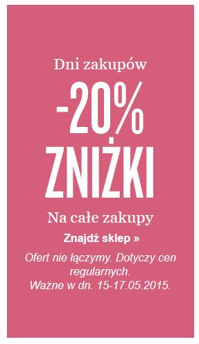 20% rabat na dowolne zakupy @ KappAhl