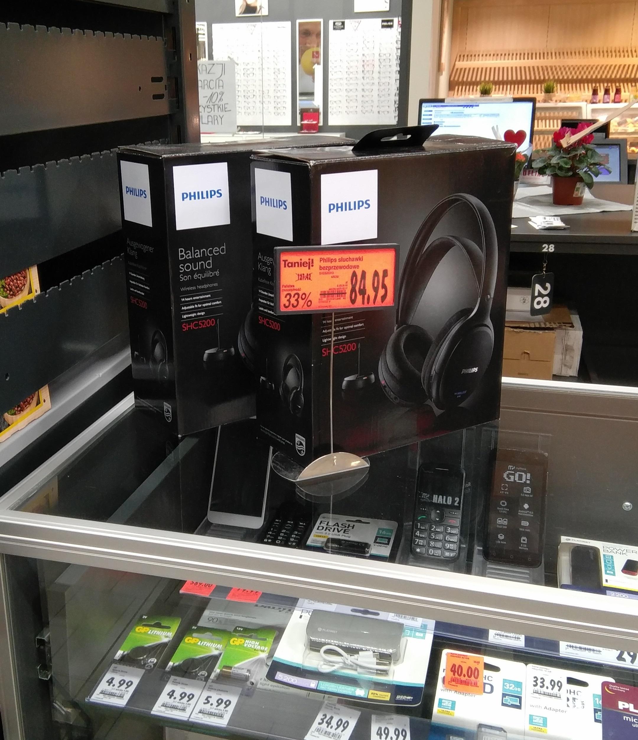 Słuchawki bezprzewodowe Philips SHC5200 - Kaufland