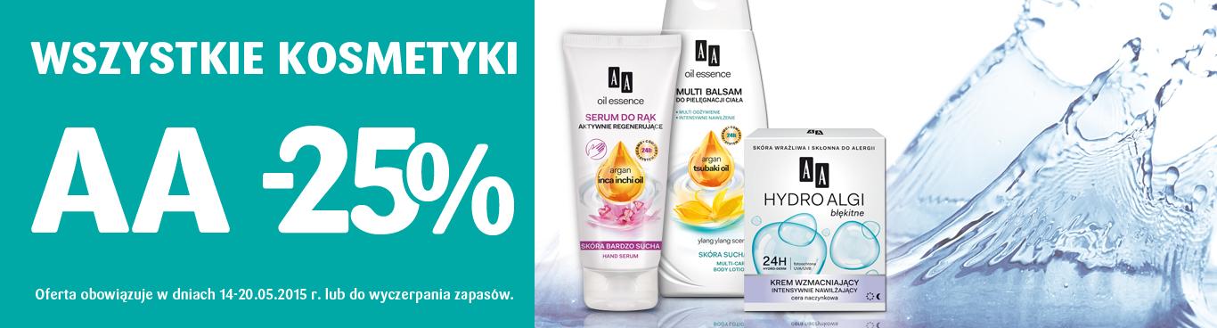 Wszystkie kosmetyki AA taniej o 25% @ Natura